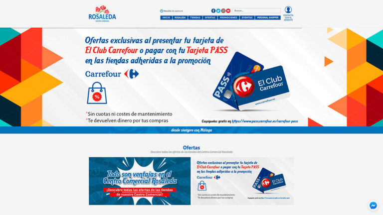 Web para Centro Comercial Rosaleda