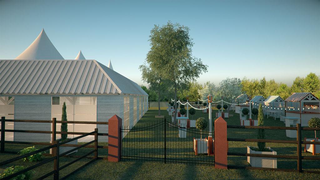 3D de recinto de celebraciones - foto 1