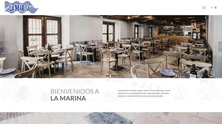 Web La Marina Restaurante - foto 1