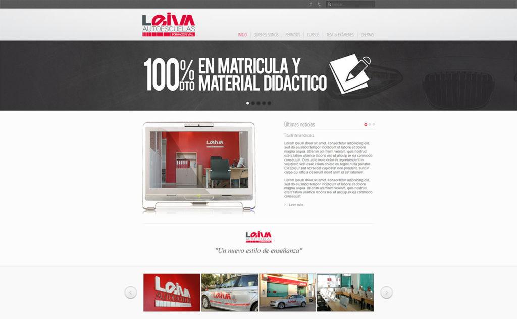 Web Leiva autoescuelas - foto 1