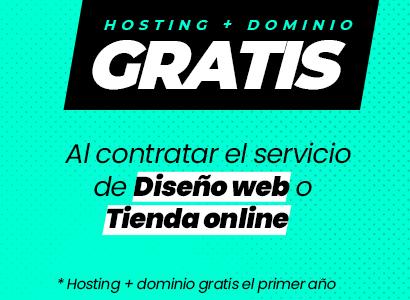 promoción Hosting + dominio gratis