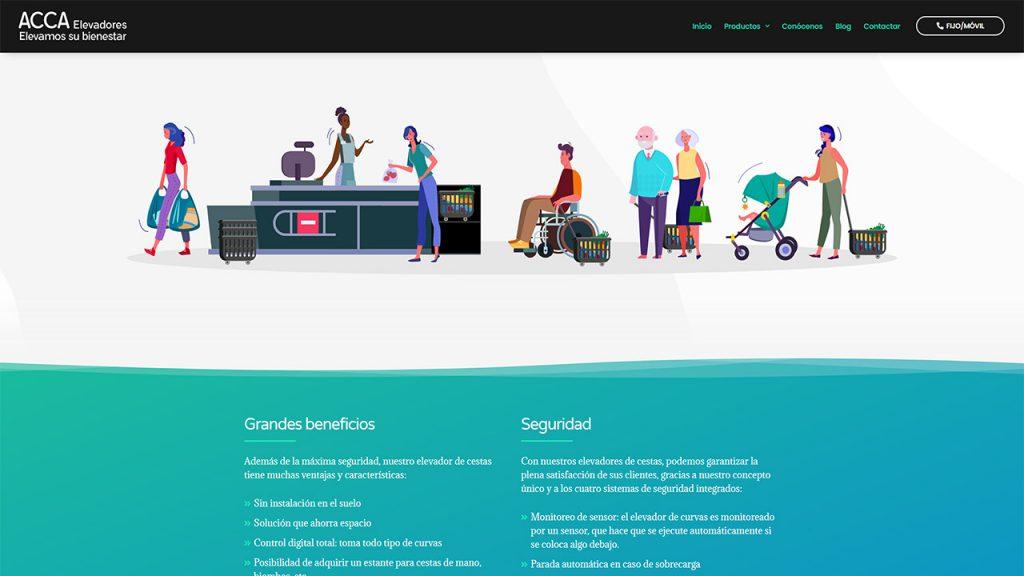 Web para ACCA Elevadores