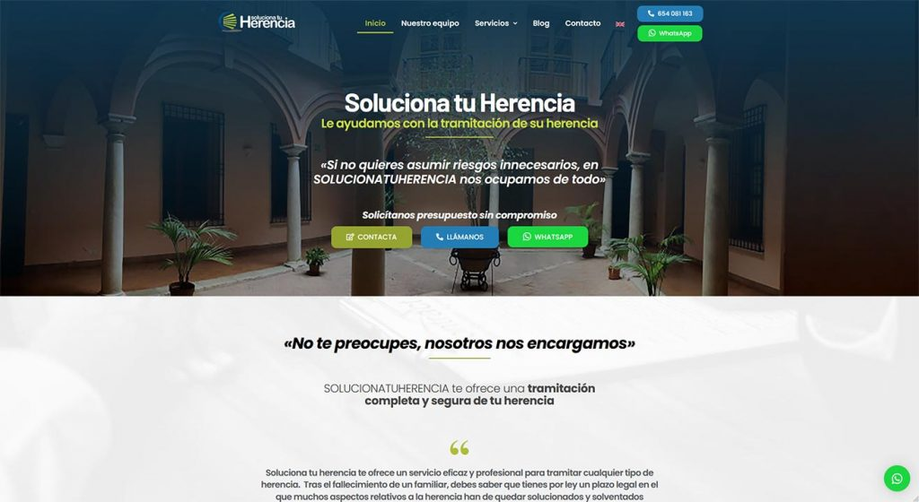 Web Soluciona tu herencia