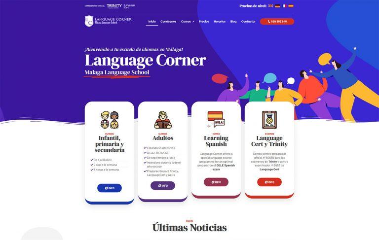 Web para Language Corner