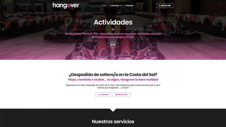 Web para Hangover Costa del Sol