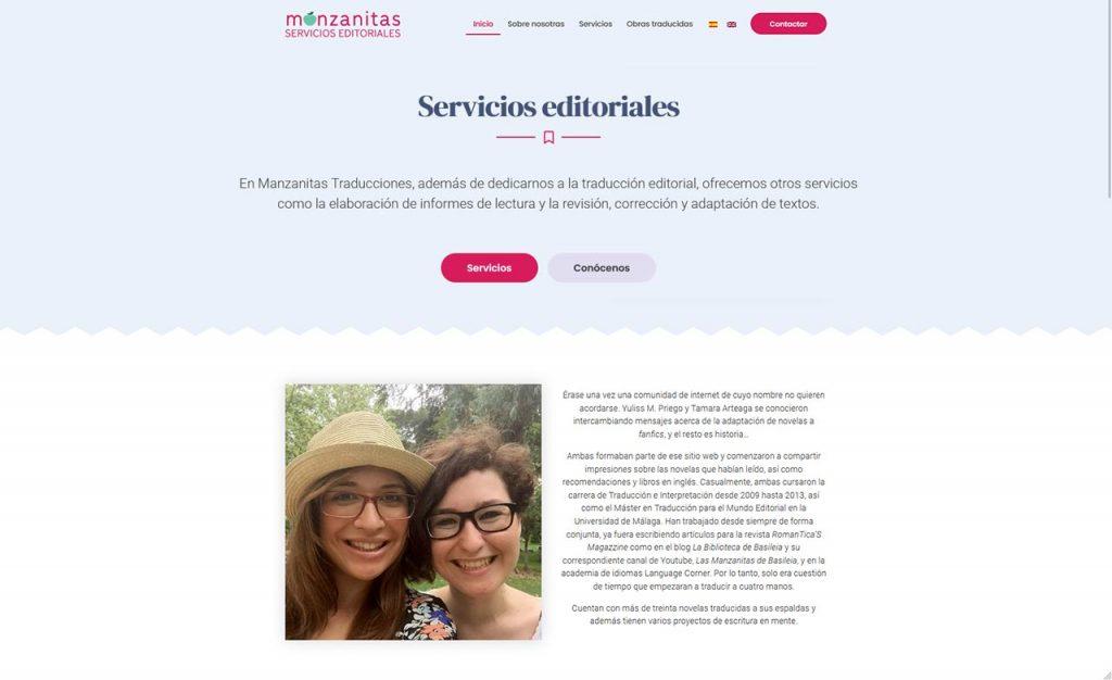 Web para Manzanitas Traducciones