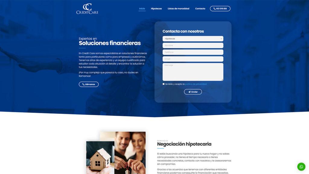 Web para Credit Care